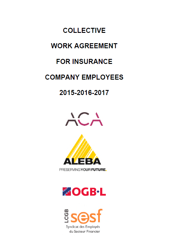Collective Work Agreement for Insurance Company Employees 2015-2017