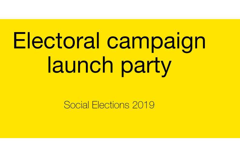 Electoral campaign launch party at Knokke Out