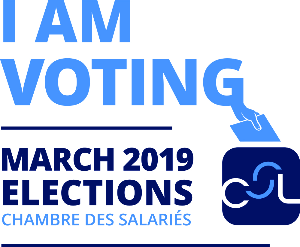 12 March 2019: Vote for your ALEBA representatives of the Chambre des salariés!