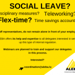 SOCIAL LEAVE? DISCIPLINARY MEASURES? TELEWORKING? FLEX-TIME? TIME SAVINGS ACCOUNT?