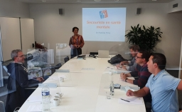 The employees of ALEBA's union office in training