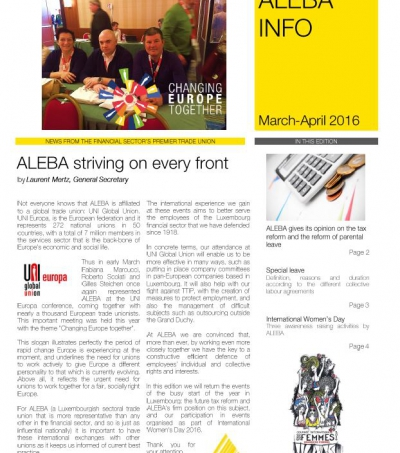 ALEBA INFO #8 March-April edition